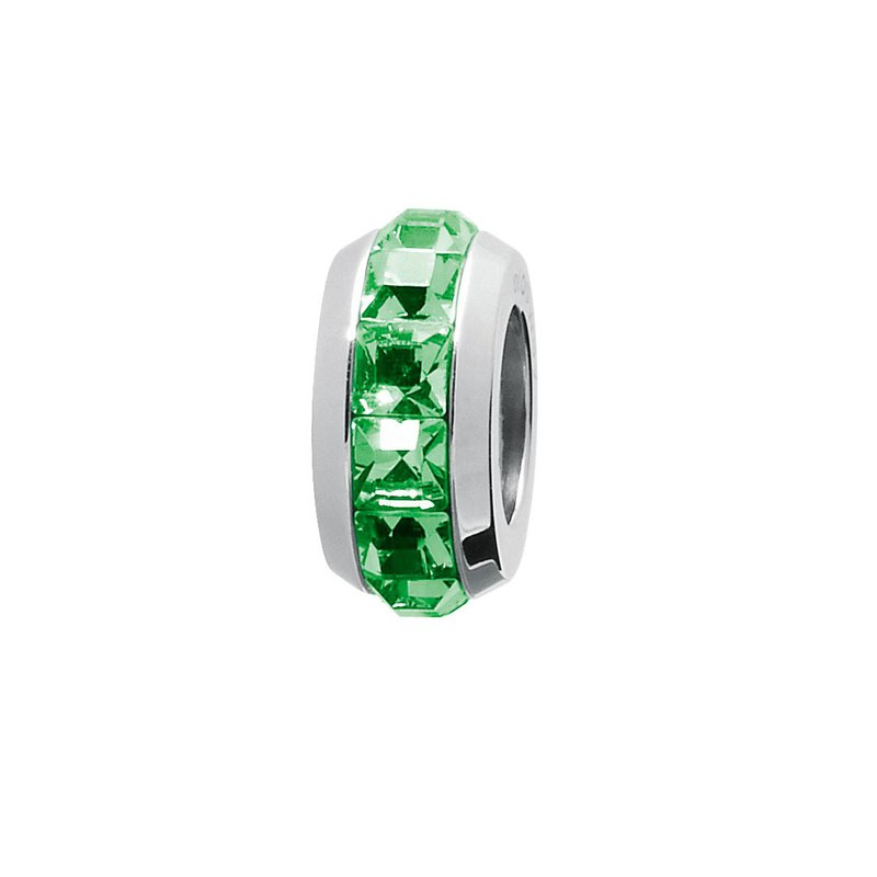 Brosway 316L stainless steel and fern green Swarovski® Elements crystals