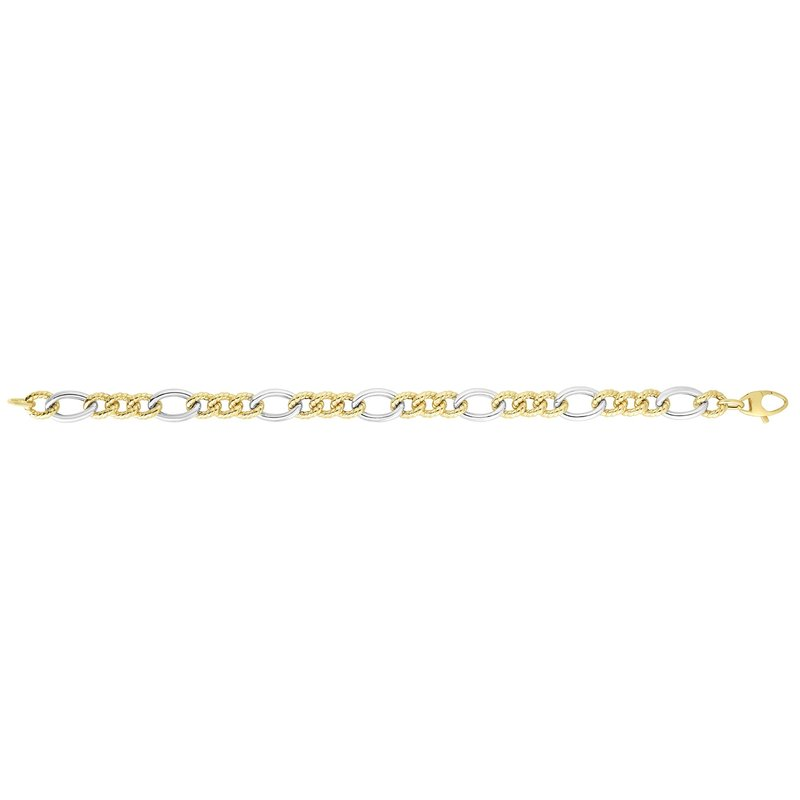 Royal Chain 14K Gold Italian Cable Bracelet