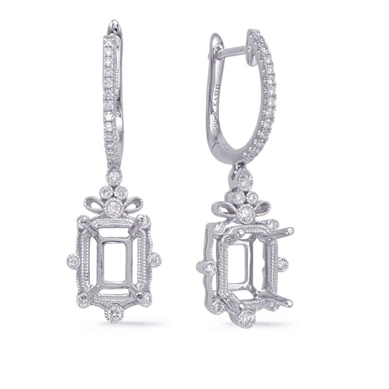 S. Kashi  & Sons White Gold Diamond Earring