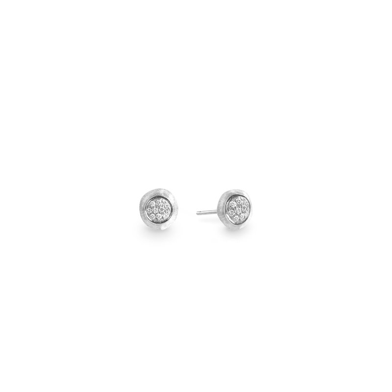Marco Bicego Jaipur Diamond White Pave Stud Earrings