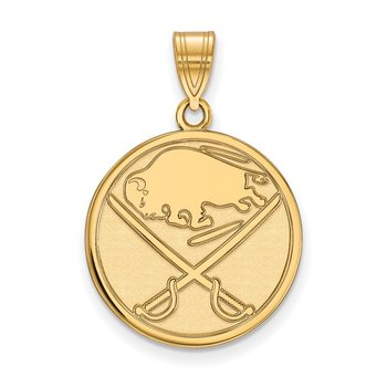 Gold-Plated Sterling Silver Buffalo Sabres NHL Pendant