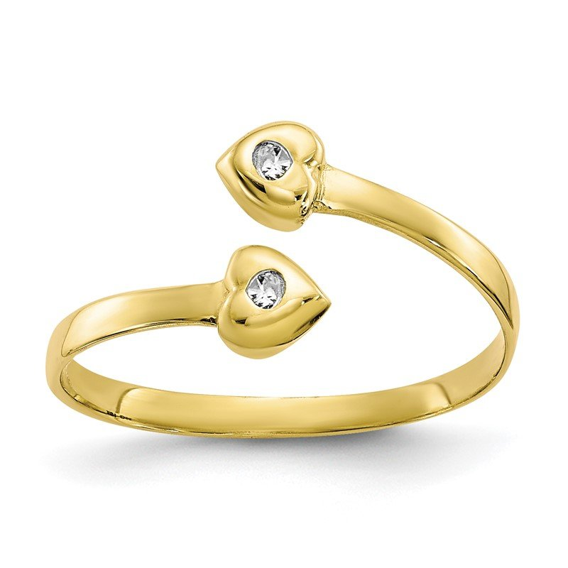 Quality Gold 10k CZ Toe Ring