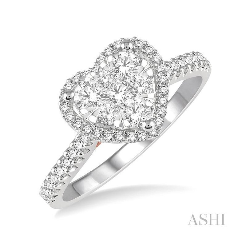 ASHI heart shape lovebright diamond ring