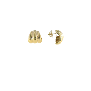 18KT YELLOW GOLD SMALL SHRIMP EARRING