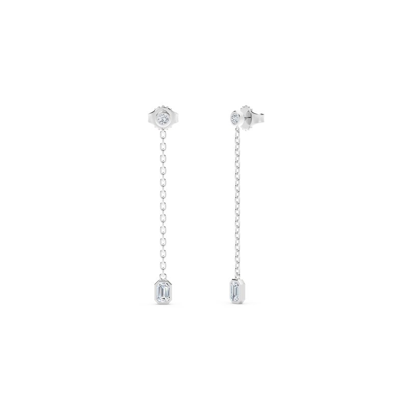 The Forevermark Tribute™ Collection Emerald Diamond Drop Earrings