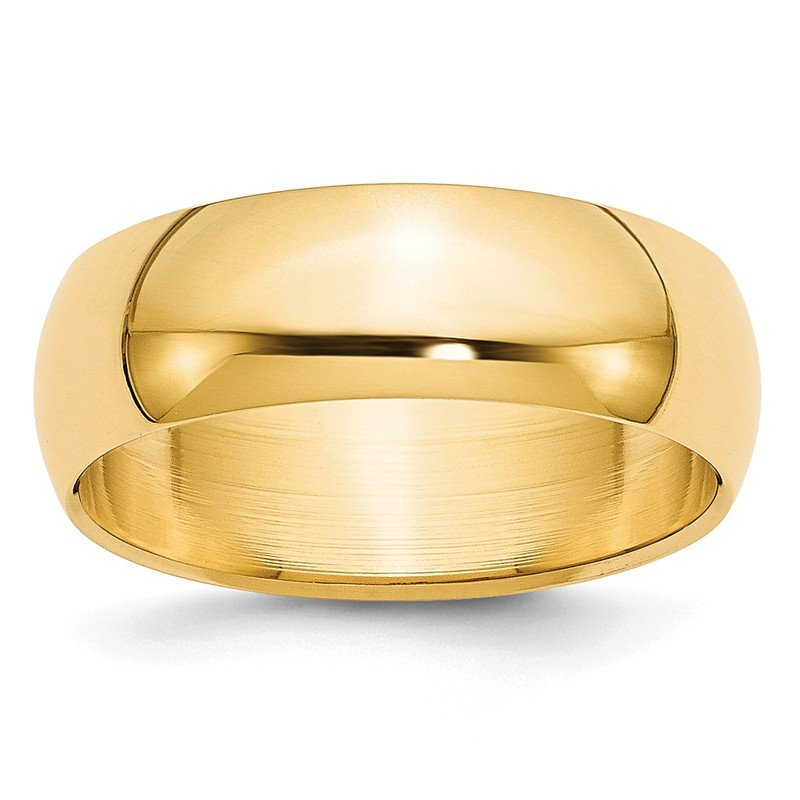Quality Gold 14k 7mm Half-Round Wedding Band