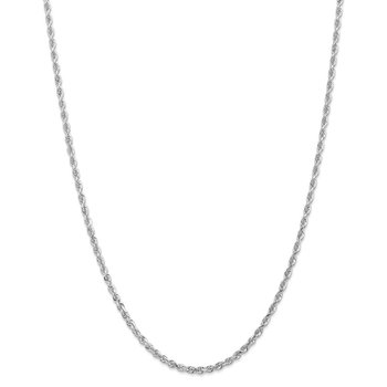 14k White Gold 3.0mm D/C Quadruple Rope Chain