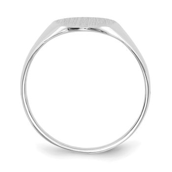 14k White Gold 10.0x9.0mm Closed Back Signet Ring