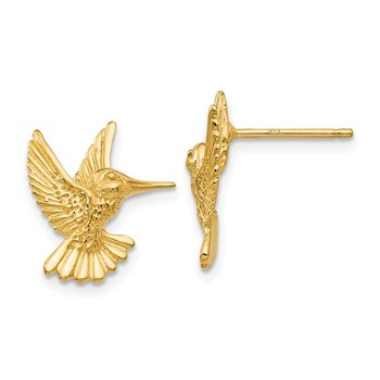 14k Hummingbird Post Earrings