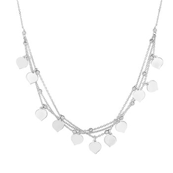 Silver Heart Dangle Necklace