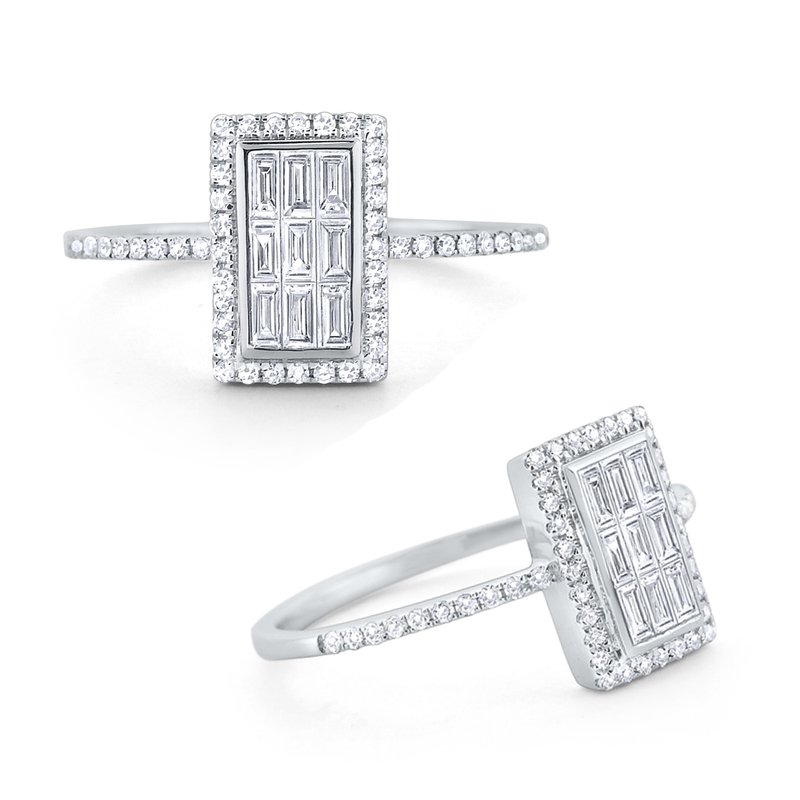 KC Designs Diamond Rectangle Mosaic Ring Set in 14 Kt. Gold