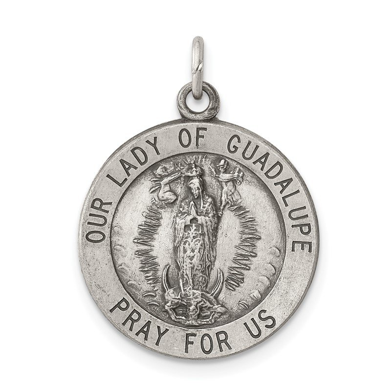 Arizona Diamond Center Collection Sterling Silver Our Lady Of Guadalupe Medal