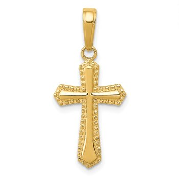 14k Passion Cross Pendant