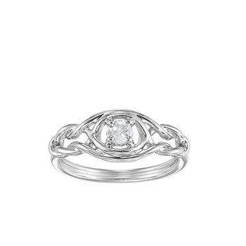 Silver White Topaz Ring (Available In all BirthStones)