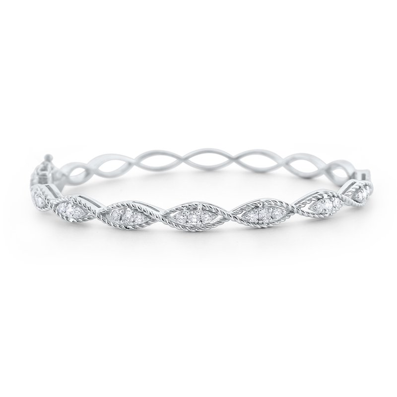 KC Designs Diamond Marquise Twist Bangle Set in 14 Kt. Gold