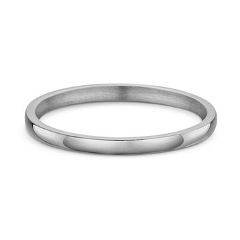 2mm Slight Dome Wedding Band
