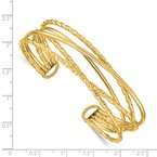 Quality Gold 14k Polished Multi Tube Cuff Bangle