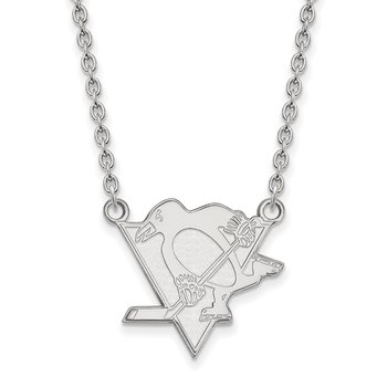 Sterling Silver Pittsburgh Penguins NHL Necklace
