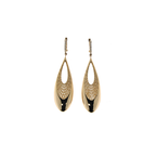 Roberto Coin 18KT YELLOW AND WHITE GOLD DROP EARRINGS WITH DIAMONDS
