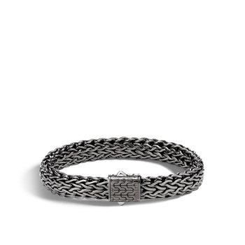 Classic Chain 11MM Bracelet in Blackened Silver