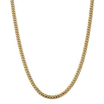 14k 5mm Solid Miami Cuban Chain