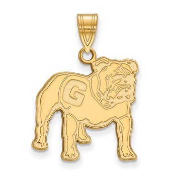 Gold-Plated Sterling Silver University of Georgia NCAA Pendant