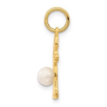 14K Girl 4mm FW Cultured Pearl-June