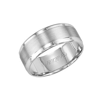 "14K White Gold ""Hallandale"" Comfort Fit Wedding Band"