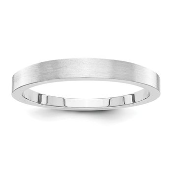 14k White Gold 3mm Tapered Satin Band