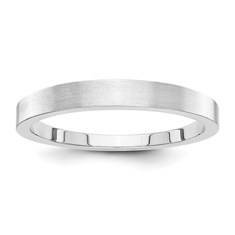 Quality Gold 14k White Gold 3mm Tapered Satin Band