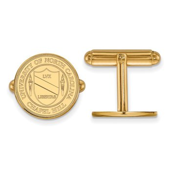 Gold University of North Carolina NCAA Cuff Links