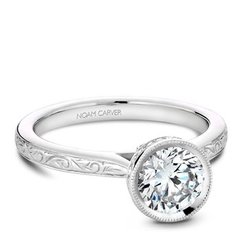 Noam Carver Vintage Engagement Ring B140-12EA