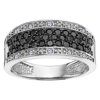 Enhanced Black Diamond Anniversary Ring