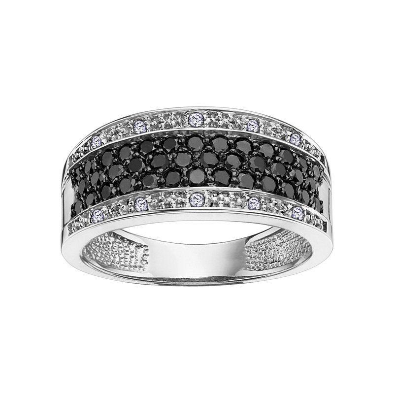 D of D Signature Enhanced Black Diamond Anniversary Ring