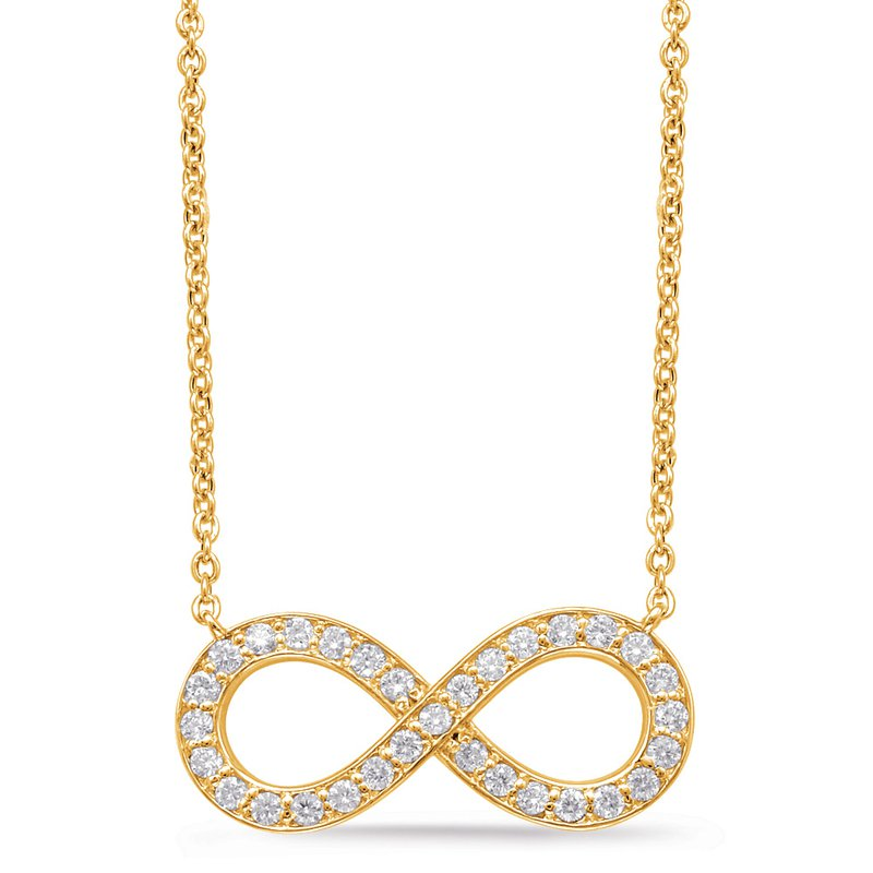 S. Kashi  & Sons Yellow Gold Infinity Sign Necklace