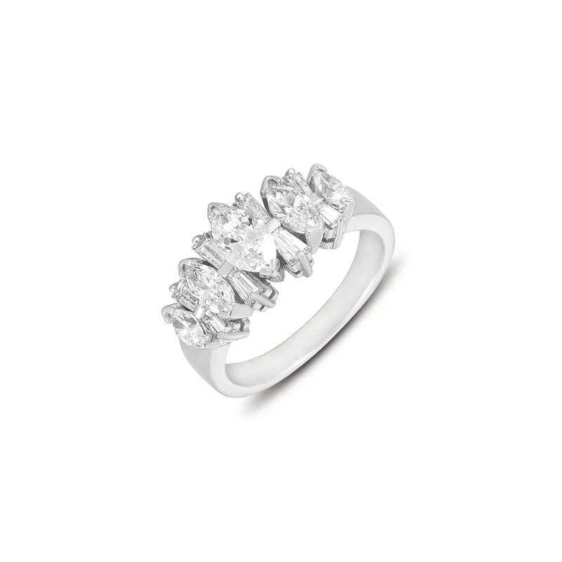 Briana White Gold Diamond Band
