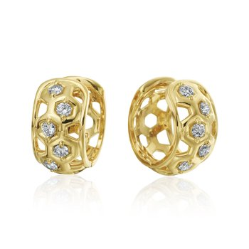 "Honeybee ""B"" Collection Higgie Diamond Earrings"