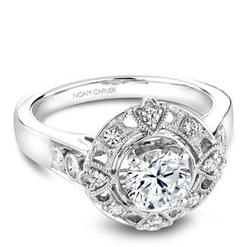 Noam Carver Floral Engagement Ring B073-01A