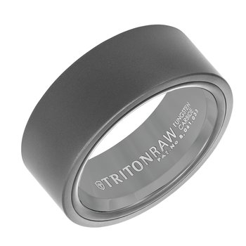 RAW SHINE - Raw Matte Finish & High Shine Black Nano-Tech Coating Inside Men's Wedding Band