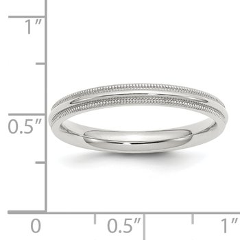 SS 3mm Comfort Fit Milgrain Size 10 Band