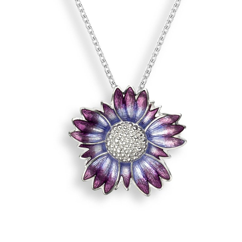 Nicole Barr Designs Purple Coastal Tidytip Necklace.Sterling Silver