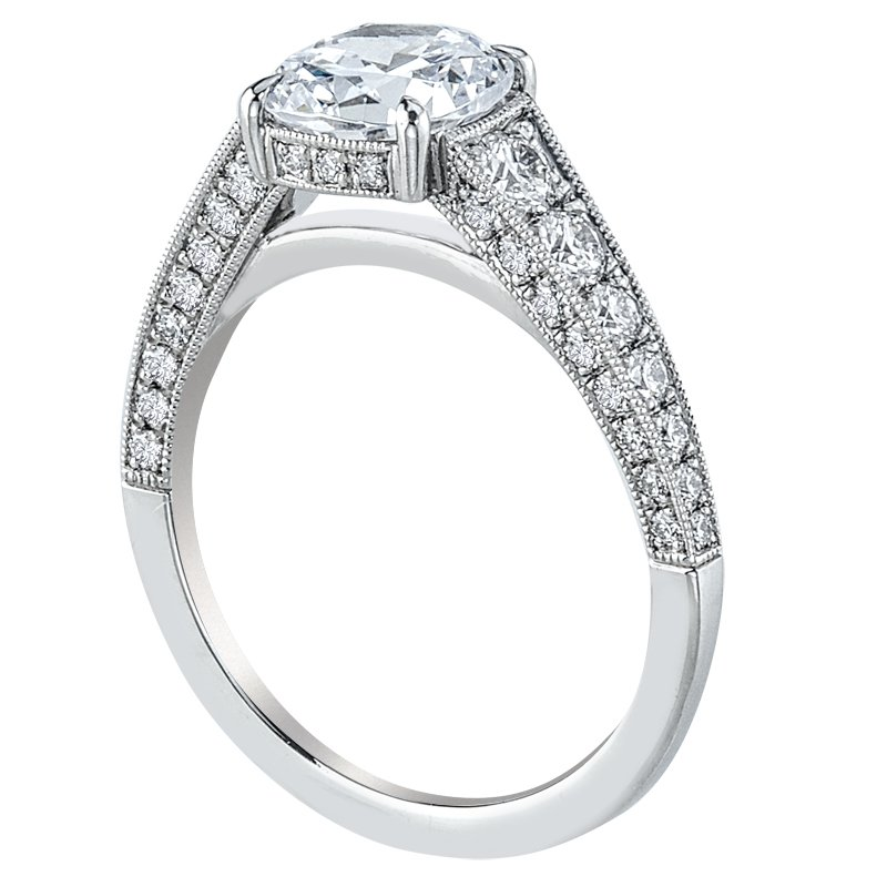 Mark Patterson Bead Set Diamond Engagement Ring