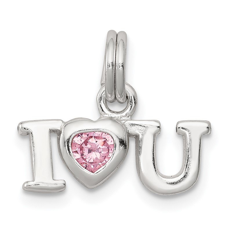 Quality Gold Sterling Silver I Love You Charm