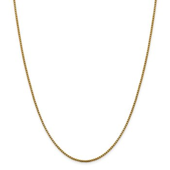 Leslie's 14K 1.85mm D/C Round Box Chain