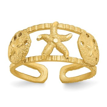 14k Starfish Toe Ring