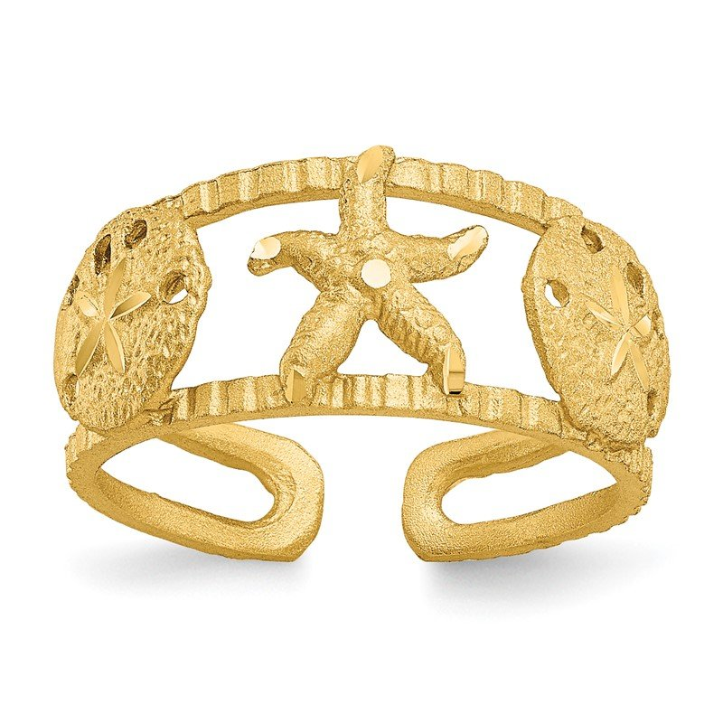 Quality Gold 14k Starfish Toe Ring