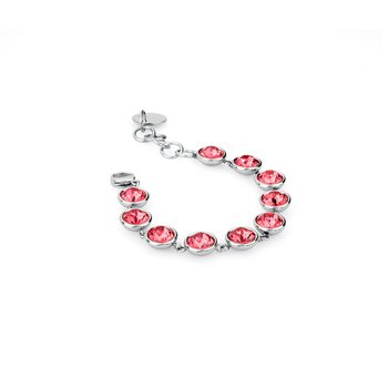 316L stainless steel and pink Swarovski® Elements