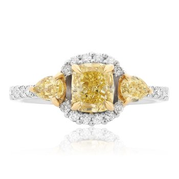 Multi-Stone Yellow Diamond Ring