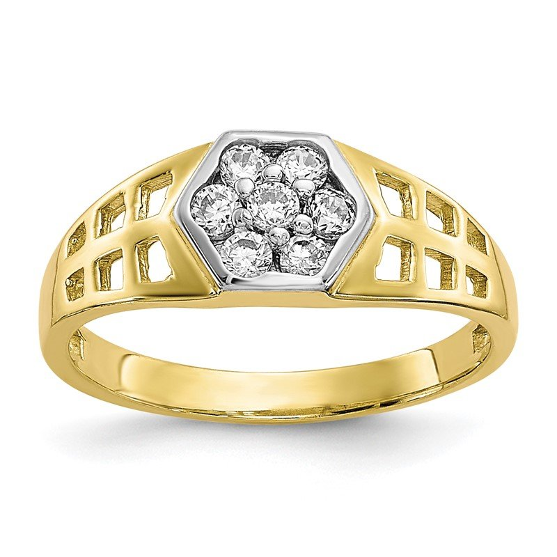 Quality Gold 10k CZ Child's Ring
