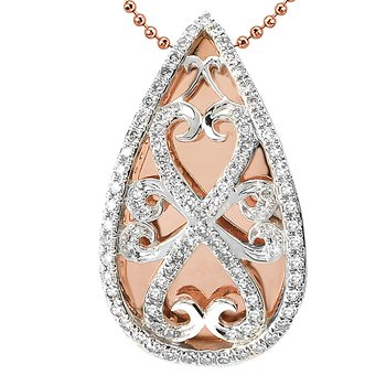 Two Tone Gold Diamond Pendant